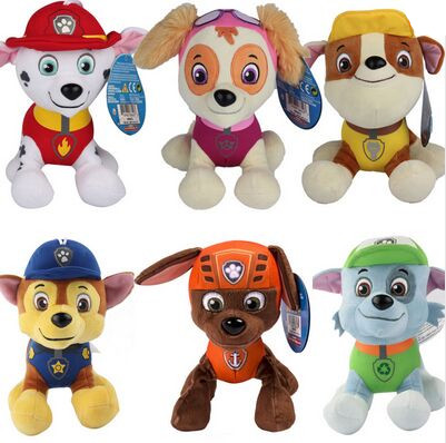 20 to 30cm Canine Patrol Dog Toys Russian Anime Doll Action Figures Car Patrol Puppy Toy Patrulla Canina Juguetes Gift for Child(China (Mainland))