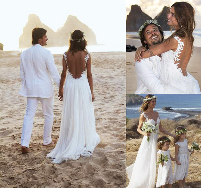 Simple Hippie Wedding Dresses boho Wedding Dresses