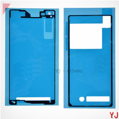 10 set/lot for Sony Xperia Z2 D6503 D6502 D6543 Original Battery Back Door +LCD Frame Bezel Plate Adhesive Sticker