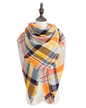 Winter Large Tartan Fashion Women Versatile Scarf Lovely Best Gift Wrap Za Famous Brand Shawl Free Shipping