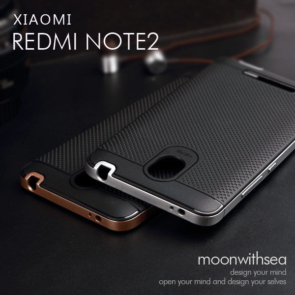 Xiaomi Redmi Note 2 case amazing 2 in 1 design New product high quality PC+TPU material 100% luxury mobile phone back cover(China (Mainland))