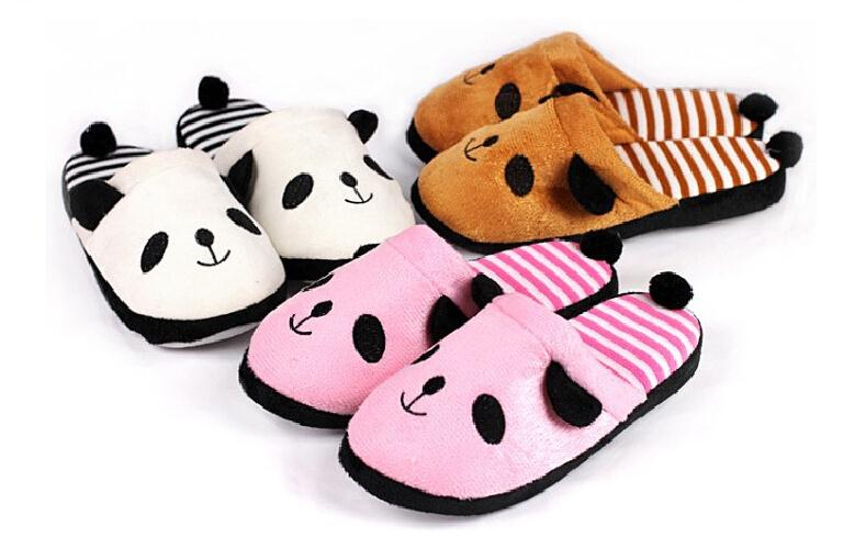 Гаджет  Warm Winter Slippers Cartoon Panda House Women Slippers Men Shoes Indoor Cotton Slippers Home Floor Slippers A1 None Обувь