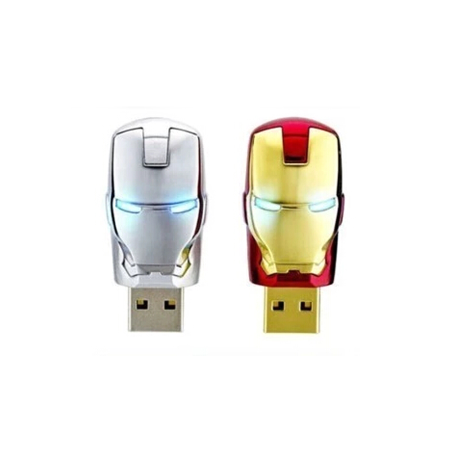 2016 new for avengers iron man pen drive usb 2.0 Real capacity flash drive 4/8/16/32/64 GB memory stick with LED Light u disk(China (Mainland))