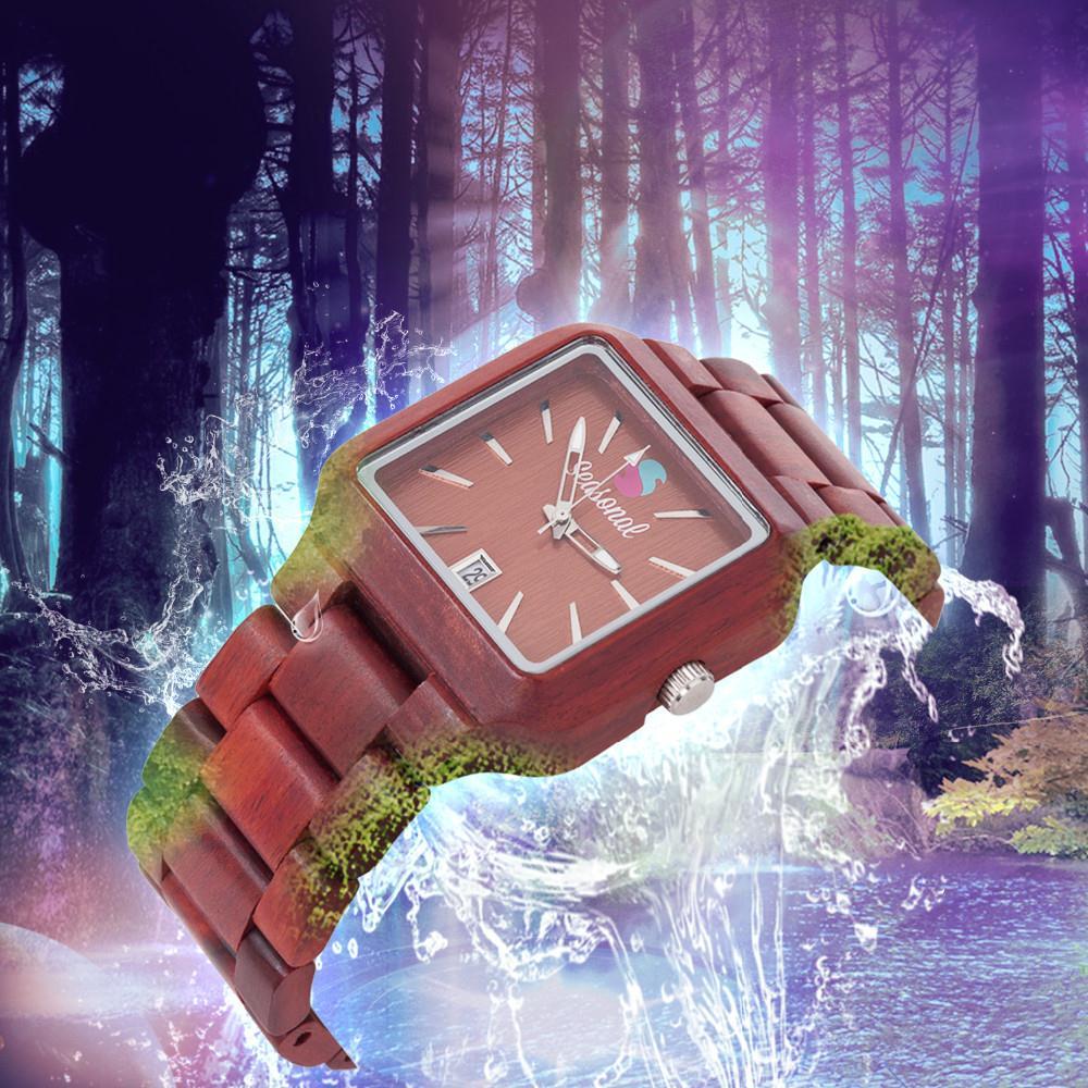Высокое Качество Японской Движение Кварцевые Часы Модные Сезонные Новый Дизайн Деревянные Часы Мужчины Женщины Рождественский Подарок с Giftbox
