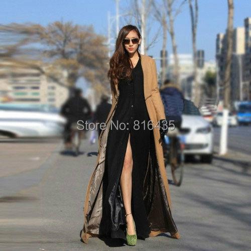2015 Real Wool New fashion women long coat turkey ladies maxi lady overcoat