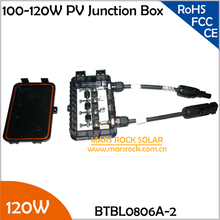 5pcs/Lot 100-120W Solar Power System Junction Box, Waterproof Photovoltaic Junction Box with 3 Diode, MC4 Connector, 90CM Cable(China (Mainland))
