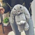 Funny Fur Rabbit Backpack School Bags For Teenager Girls Cartoon 3D Bunny Women Travel Shoulder Bag