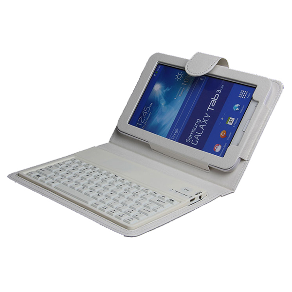 Wireless Bluetooth Keyboard Case For Samsung Galaxy Tab 3 Lite SM T110 T111 7 Cover Film