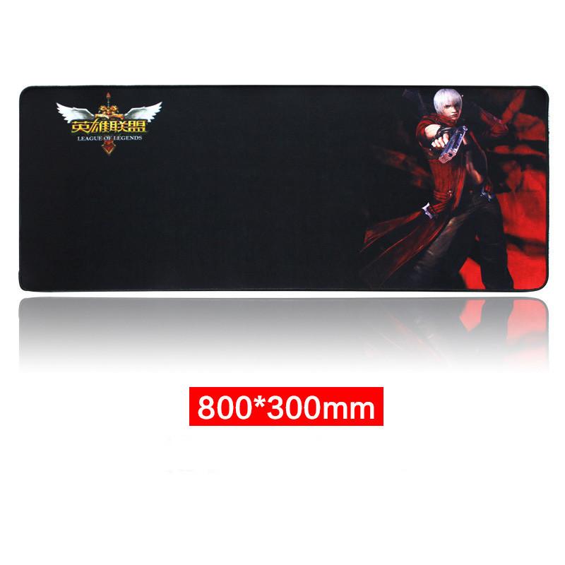Large Speed Gamer's Gaming Mouse Pad Locking Edge Mousepad Keyboard Mice Mat 800*300*2mm