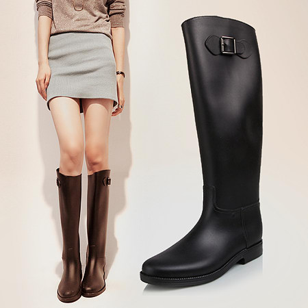 2015 New Womens Low Heels Rain Boot High Rainboots Ladys Water Shoes <br><br>Aliexpress