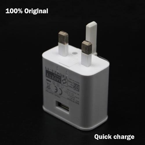 100Pcs/lot Genuine Original 9V-1.67A or 5V-2A UK Plug Wall Charger Samsung Galaxy Note 5 S6 edge N9100 Adaptive fast charging(China (Mainland))