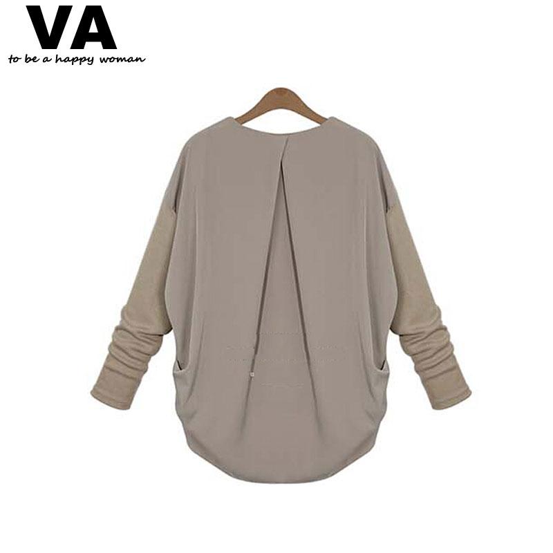 VA 5XL 4XL XXXL Plus Size Women Long Sleeve Blouse 2015 Autumn Fashion Female Shirts Blusas Femininas Tops Woman Clothing W00669(China (Mainland))