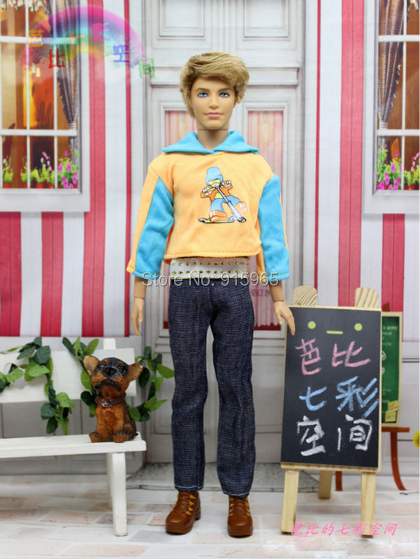 free delivery three units material swimsuit Outfit Coat Informal Put on Sport Go well with Garments for barbie boy firend for barbie doll ken