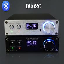 FX-Audio D802C Wireless Bluetooth Version Input USB/AUX/Optical/Coaxial Pure Digital Audio Amplifier 24Bit/192KHz 80W+80W OLED(China (Mainland))