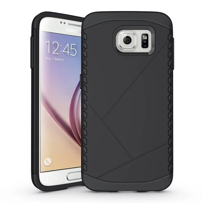 S6 case Anti fall Mobile shell + TPU PC 2 in 1 Protective cover case armor shield phone Case For Samsung GALAXY S6(China (Mainland))