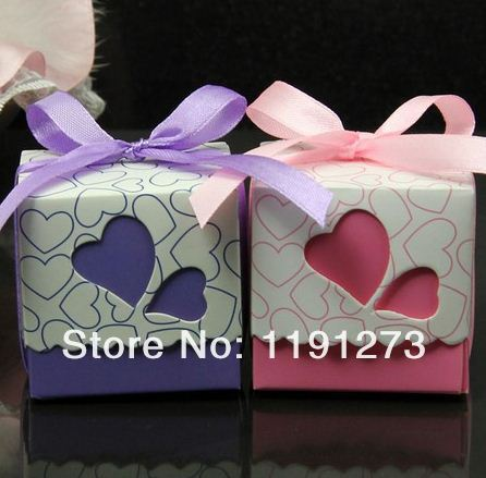 Cute baby shower candy box,Heart Wedding Boxes Gift Box 50pcs+ - Luis's Lovely&Romantic store