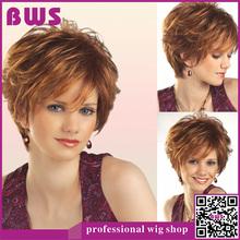 2015 New Hot Women Lady Short Straight beautiful fashion Dark brown Mixed colors short Synthetic hair wig free shipping(China (Mainland))