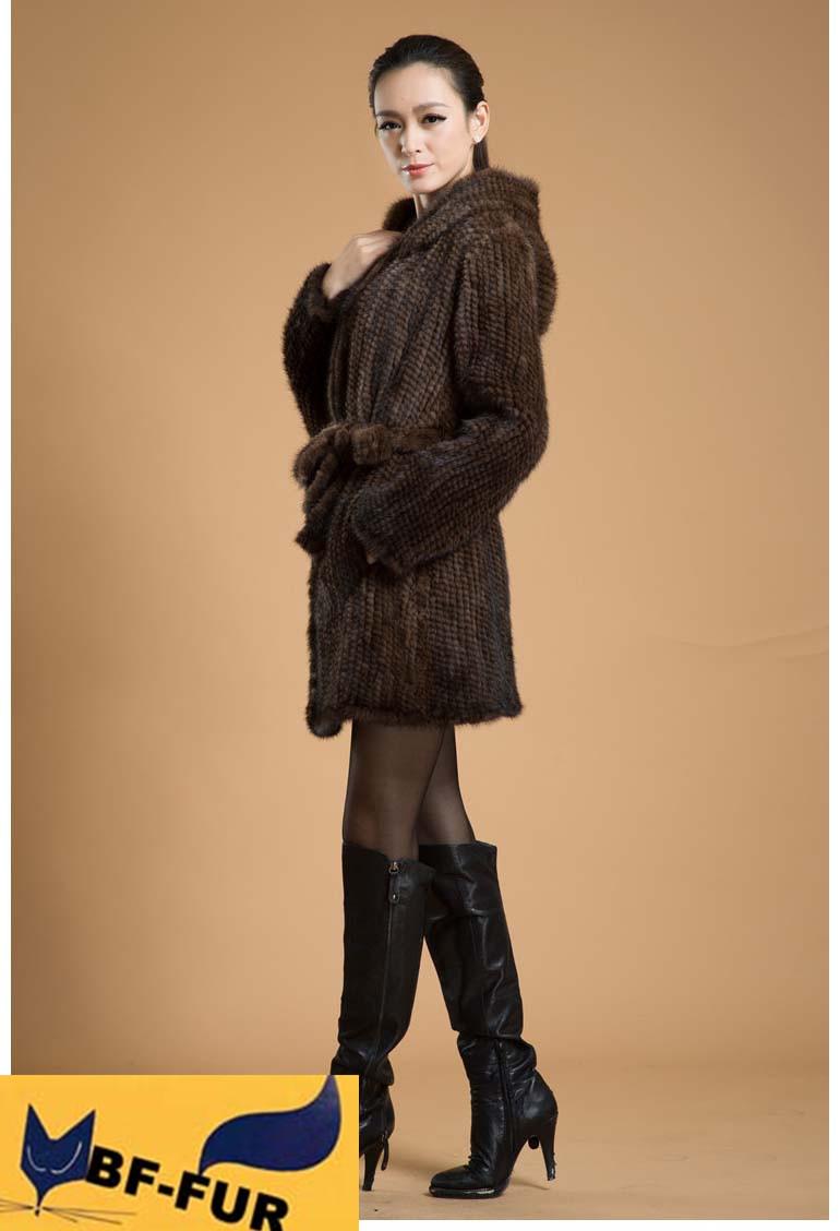 Высокое качество женщин из натуральной шерсти норки пальто куртка с капюшоном реального натурального меха верхняя одежда мода теплая зима bf-c0117