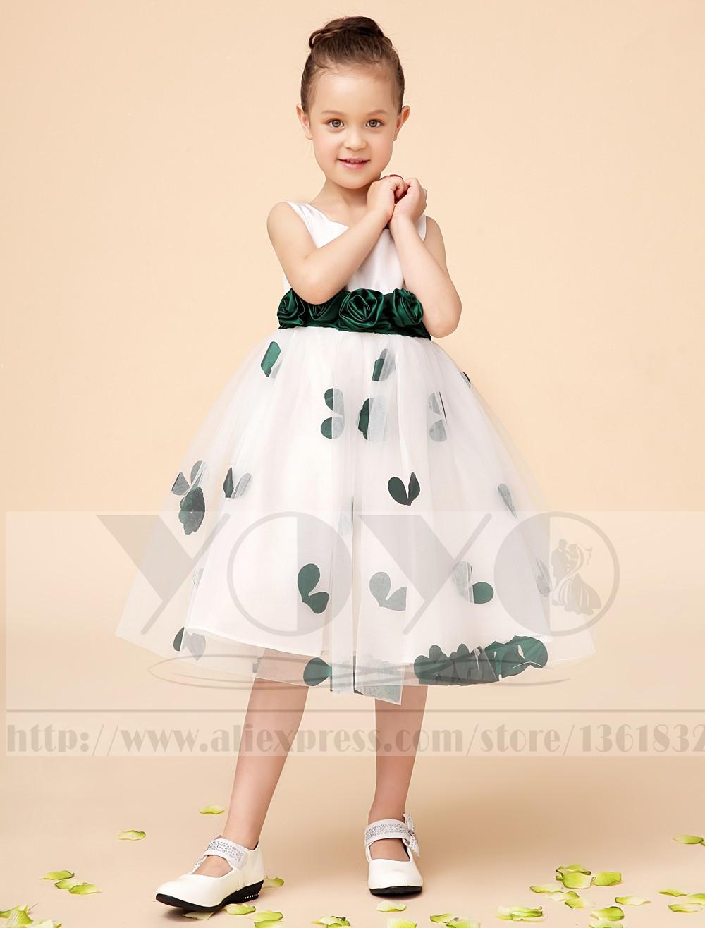 Скидки на Тюль платье-линии кот маленькие девочки с зеленой створки свадебные ну вечеринку дети девочки платья торжества платья