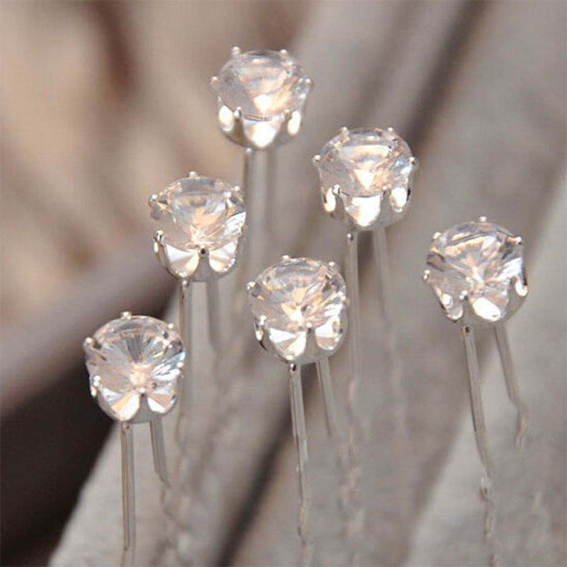 20Pcs Charm Sweet Bride Pearl Rhinestone Crystal Hairpins Hairgrips Hairclips Twists Bride hairband Jewelry Ornament accessories(China (Mainland))