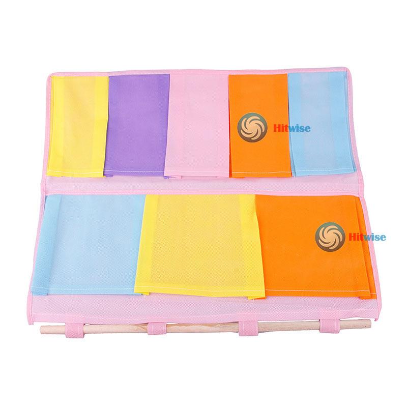 hitwise cheaper 8 Wardrobe Clothing Shelves 2 Layer Hanging Closet Organizer Case Storage Bag 10 Most popular(China (Mainland))