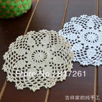 2013 new free shipping 20pic/lot 16cm round flowers lace doily IKEA swastika crochet hook felt as kitchen accessories for table