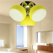 Hot sale personality ceiling light Lemon light E27 Led 3 light for bedroom living room fashion lady(China (Mainland))