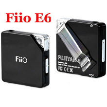 Original Black FiiO E6 Fujiyama Built-in EQ Mini Portable Headphone Amplifier Headphone Amp Preamps Upgraded Version of E5(China (Mainland))
