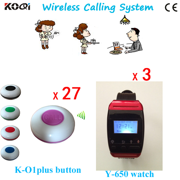 Top Popular Coffee Shop Service Restaurant Waiter Buzzer Table Call Button Guest Paging System(China (Mainland))