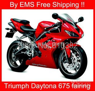 Hot red Motorcycle Fairing kit for TRIUMPH DAYTONA 675 05 06 07 08 09 Triumph Daytona 675 2005 2009 Fairing parts