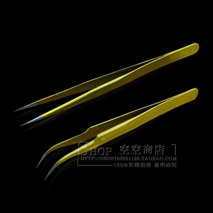Pro 2pcs Eyelash Extension Nipper Anti Acid Steel Tweezers Curved Straight Nail Tools Eyelash False Piking Makeup Toolsdiy445141
