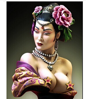 Scale Models 1/10 sexy geisha resin bust Free Shipping<br><br>Aliexpress