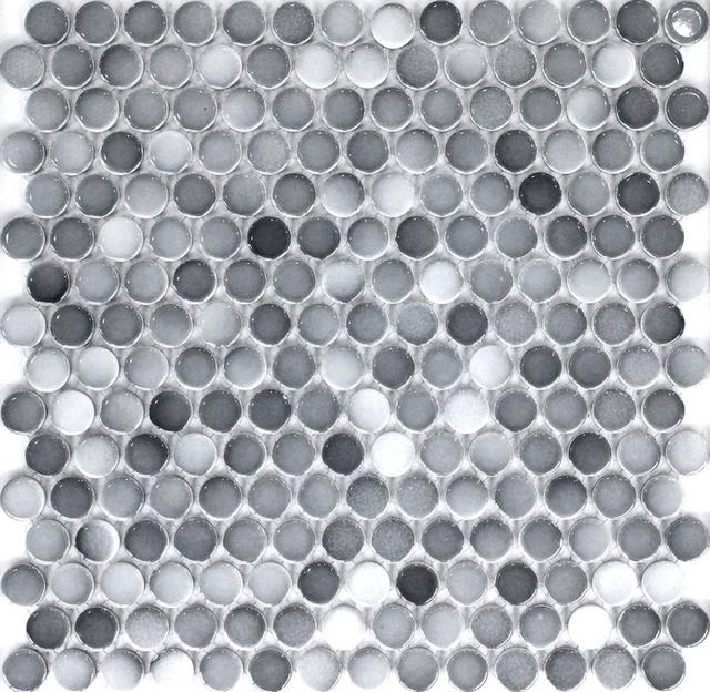 grau farbe 19mm runde keramik mosaik fliesen schwimmbad fliesen badezimmer dusche boden. Black Bedroom Furniture Sets. Home Design Ideas