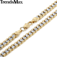Buy Trendsmax 6mm Hammered Cut Round Curb Cuban Link Yellow Gold Filled Necklace Women Mens Ladies Boys Chain GN275 for $5.79 in AliExpress store