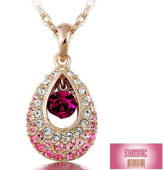Free Wings Fashion Crystal Pendants Necklaces Water Drop Rhinestone Women Jewellery - Hello Bella store