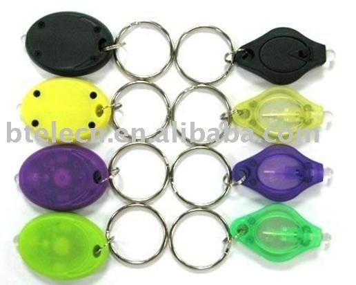 Two Power on ways led mini flashlight key chain,mini torch,keychain flashlight,mini light keyring