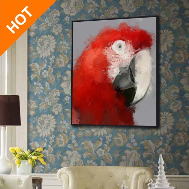 Online kopen wholesale papegaaien schilderen uit china papegaaien schilderen groothandel - Trendy kamer schilderij ...