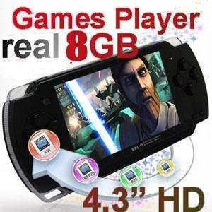 """Free Shipping 4.3"""" 8GB Handheld Game Player,Portabe Game Console Player with Camera + 2000 GAMES"""