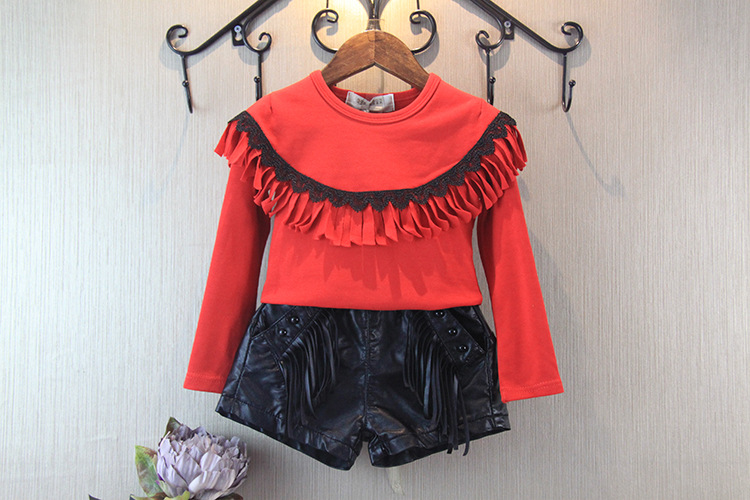 Hu Sunshine wholesale New 2016 spring autumn girls red tassel hoody<br><br>Aliexpress
