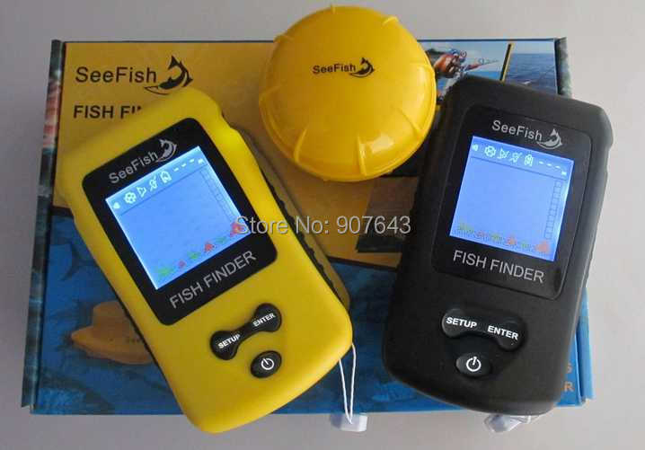 Outdoor sports Colorful display wireless fish finder TL86 Portable Sonar LCD Fish depth Finder ice fishing finder Free Shipping(China (Mainland))