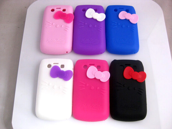 7 Colors Hello Kitty Silicone Phone Case Cover for Blackberry Bold 9700 Cover(China (Mainland))
