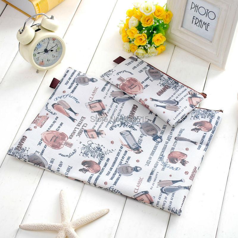 livraison gratuite zipper impression floral sac de crayon dossier dans pochettes 224 crayon de