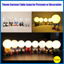 cartoon characters desk lamp  theme LED lamp/lanterns batman/superman series lamp present creative(China (Mainland))