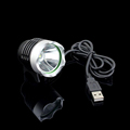 New USB Powerd Bicycle Head Light 1000 Lumen T6 LED Mountain Road Bike Lamp Aluminum Alloy
