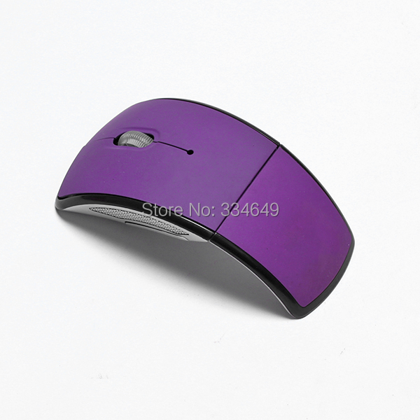 Folding Arc Wireless Mouse for PC Laptop Computer Mini USB 2.4Ghz Snap-in Transceiver Optical Foldable Best Selling(China (Mainland))