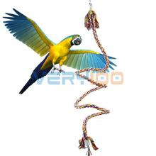 ROPE BOING COIL SWING BIRD TOY parrot cage toy conures cockatiels Perch 1.1m(China (Mainland))