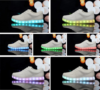 2015 New LED Luminous Shoes Unisex Sneakers Men & Women Sneakers USB Charging Light Shoes Colorful Glowing Leisure Ms Flat Shoes(China (Mainland))