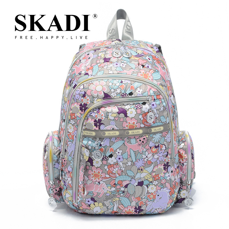 2016 Fashion Oxford Travel Backpacks Multipocket Printing Computer Sidekicks Bag Casual Bags(China (Mainland))