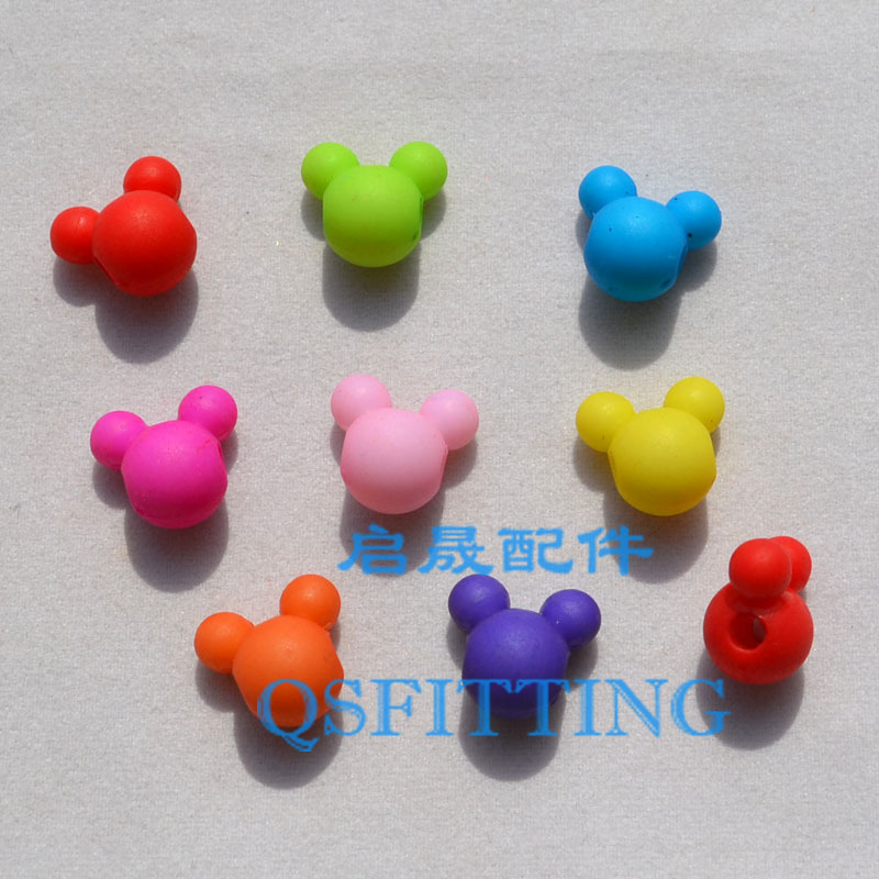 supply DIY fashion jewelry Accessory,Acrylic Beads,Cartoon Mouse,Mix Color,Children's handcraft(China (Mainland))
