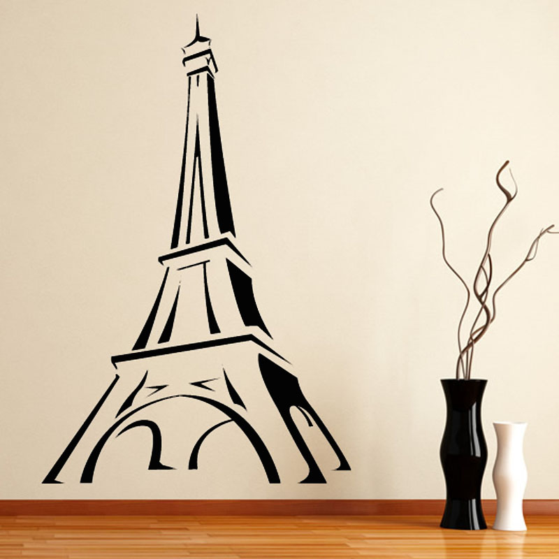 wall stickers tour eiffel decorative stickers eiffel tower wall stickers